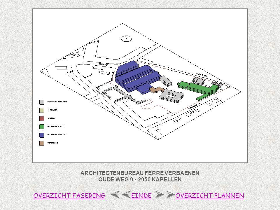 ARCHITECTENBUREAU FERRE VERBAENEN OUDE WEG 9 - 2950 KAPELLEN OVERZICHT FASERINGOVERZICHT PLANNENEINDE