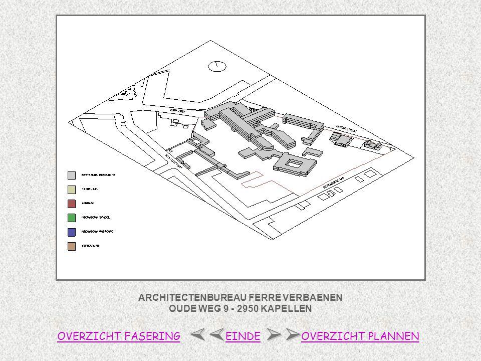 ARCHITECTENBUREAU FERRE VERBAENEN OUDE WEG 9 - 2950 KAPELLEN OVERZICHT FASERINGOVERZICHT PLANNENEINDE 0