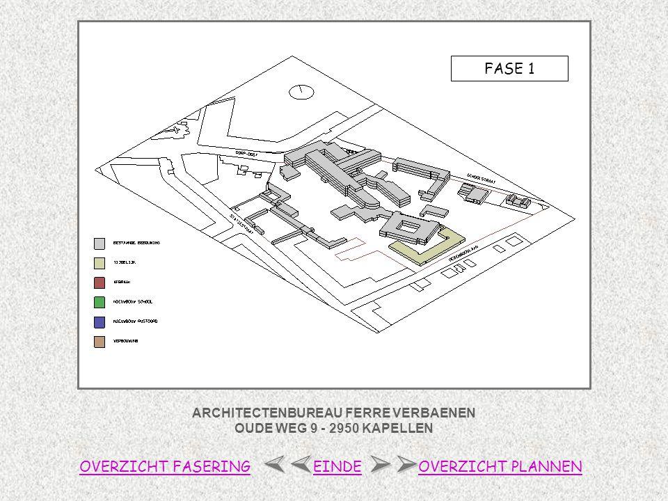 ARCHITECTENBUREAU FERRE VERBAENEN OUDE WEG 9 - 2950 KAPELLEN FASE 1 OVERZICHT FASERINGOVERZICHT PLANNENEINDE