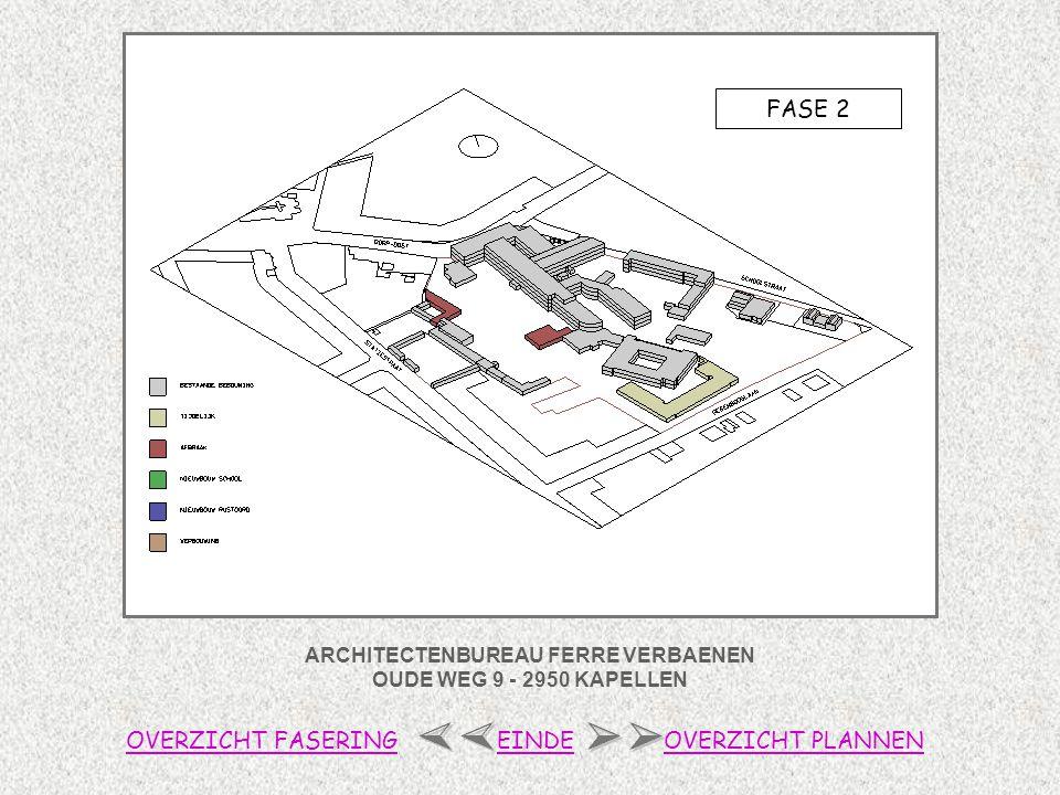 ARCHITECTENBUREAU FERRE VERBAENEN OUDE WEG 9 - 2950 KAPELLEN FASE 3 OVERZICHT FASERINGOVERZICHT PLANNENEINDE