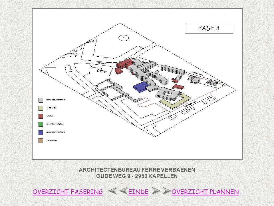ARCHITECTENBUREAU FERRE VERBAENEN OUDE WEG 9 - 2950 KAPELLEN FASE 4 OVERZICHT FASERINGOVERZICHT PLANNENEINDE