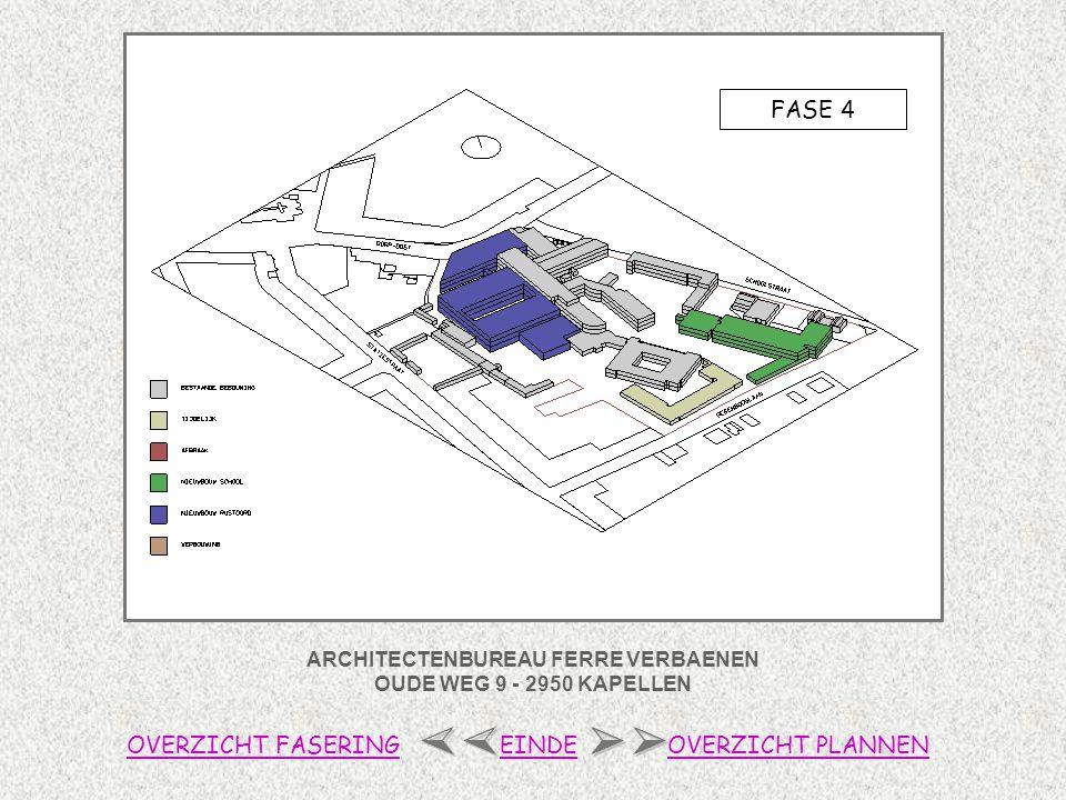 ARCHITECTENBUREAU FERRE VERBAENEN OUDE WEG 9 - 2950 KAPELLEN 1/2 OVERZICHT FASERINGOVERZICHT PLANNENEINDE