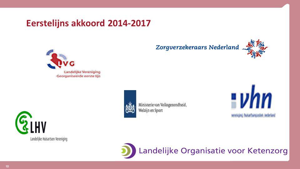 10 Eerstelijns akkoord 2014-2017