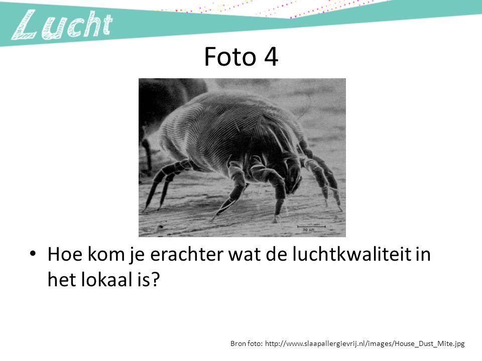 Foto 4 Hoe kom je erachter wat de luchtkwaliteit in het lokaal is? Bron foto: http://www.slaapallergievrij.nl/images/House_Dust_Mite.jpg