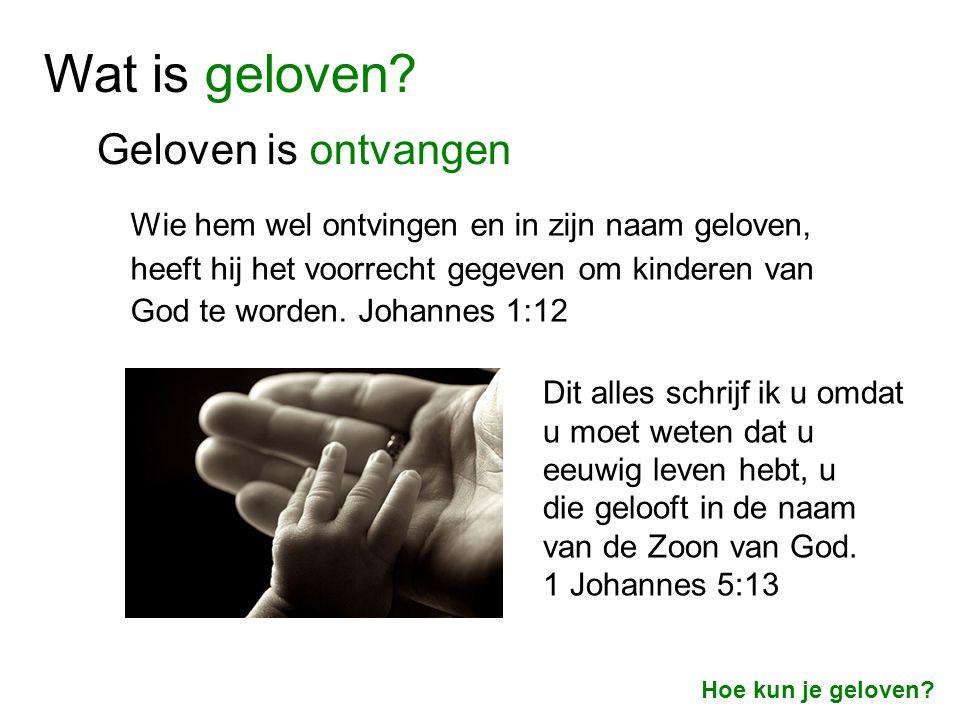 Geloven is vertrouwen dat iets waar is Het Woord van God Het werk van Jezus Het getuigenis van de Heilige Geest Hoe weet je dat God te vertrouwen is.