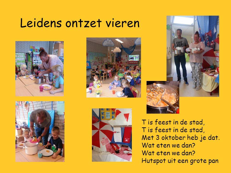 Leidens ontzet vieren T is feest in de stad, Met 3 oktober heb je dat. Wat eten we dan? Hutspot uit een grote pan