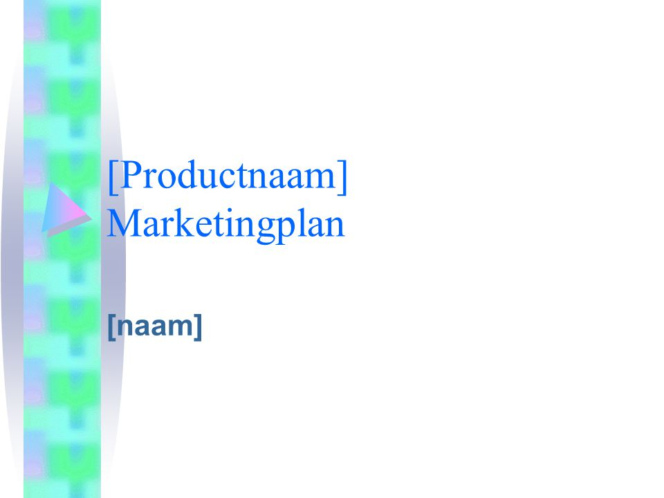 [Productnaam] Marketingplan [naam]