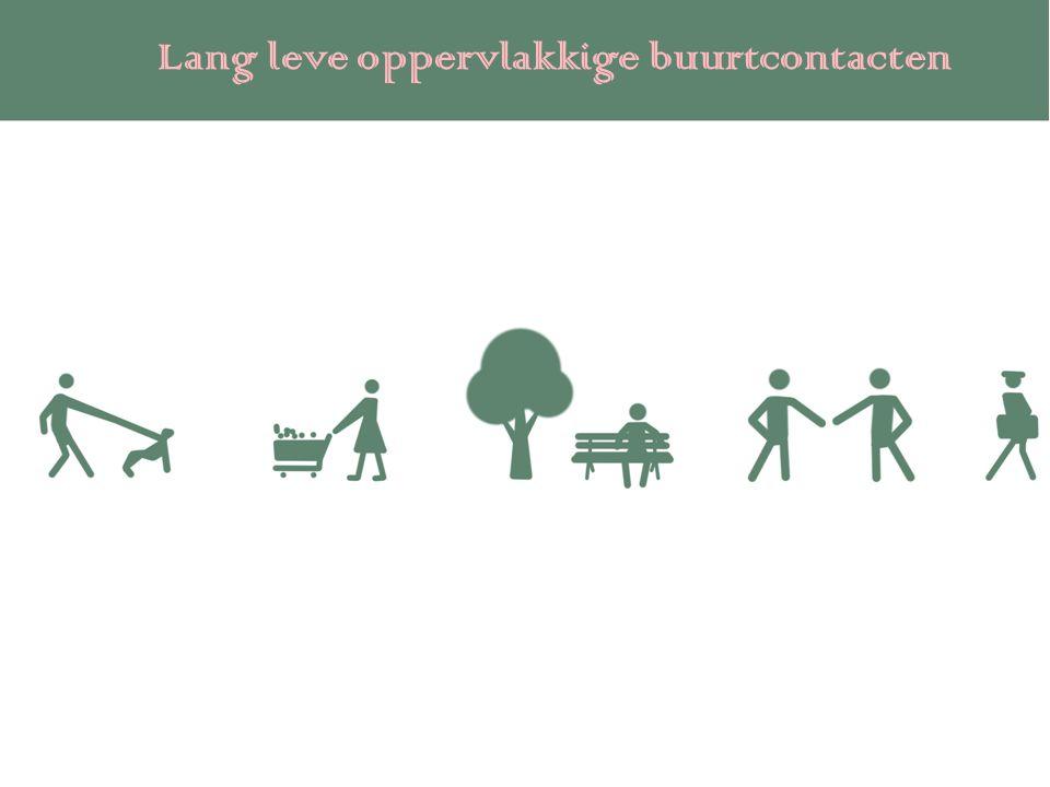 Lang leve oppervlakkige buurtcontacten