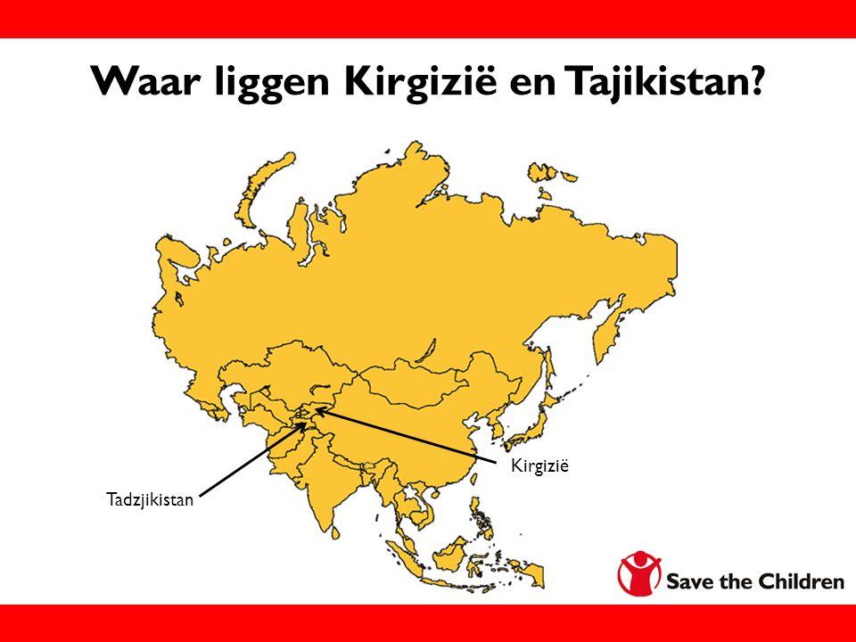 Waar liggen Kirgizië en Tajikistan? Kirgizië Tadzjikistan