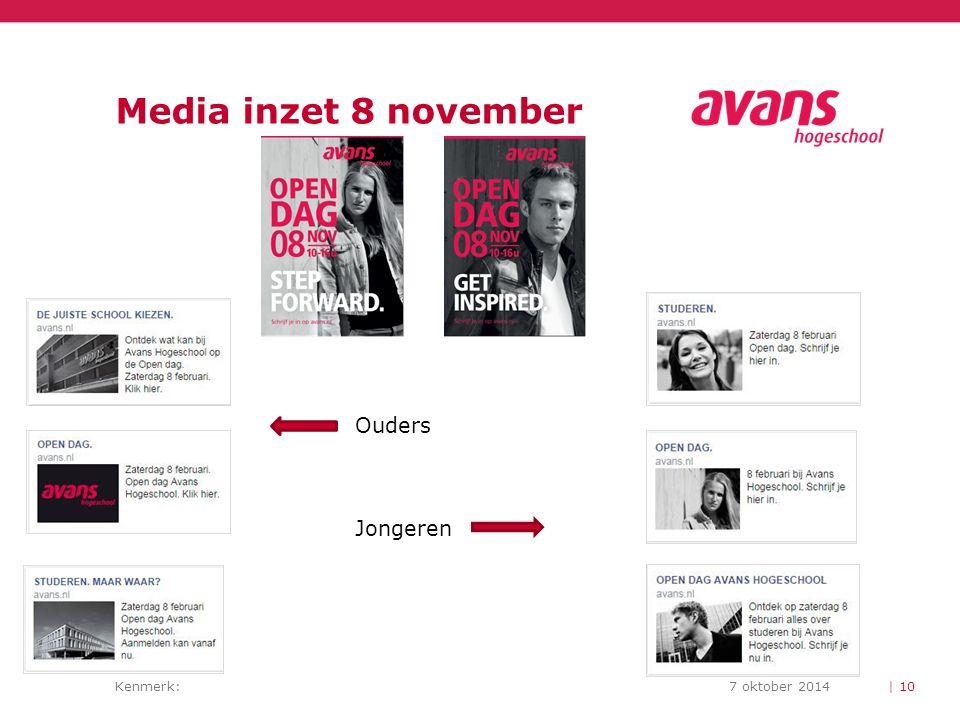 Kenmerk:7 oktober 2014 Media inzet 8 november | 10 Ouders Jongeren