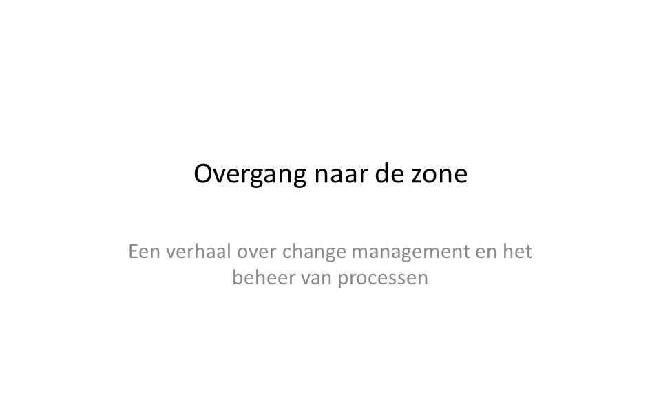 Overgang naar de zone Een verhaal over change management en het beheer van processen