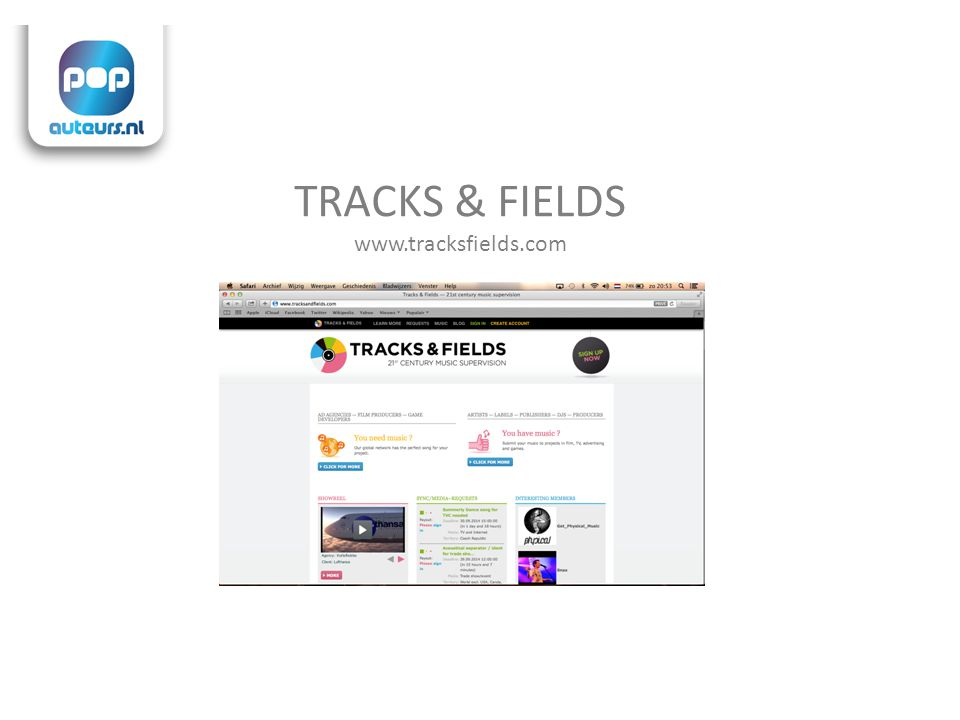 TRACKS & FIELDS www.tracksfields.com