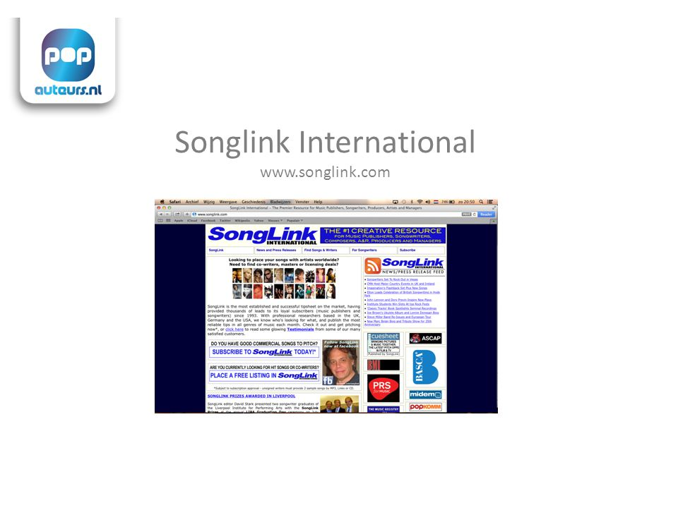 Songlink International www.songlink.com