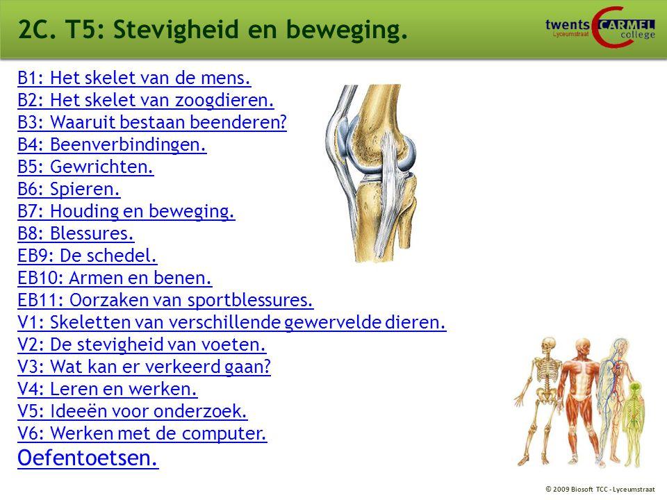 © 2009 Biosoft TCC - Lyceumstraat 2C.T5: Stevigheid en beweging.