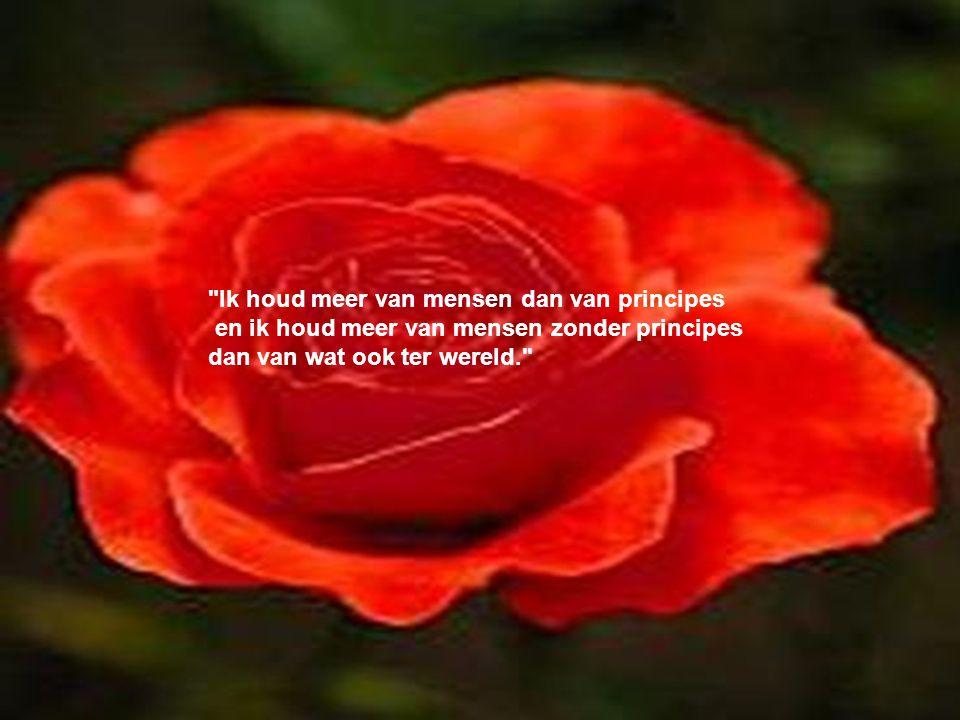 Ik houd meer van mensen dan van principes en ik houd meer van mensen zonder principes dan van wat ook ter wereld.