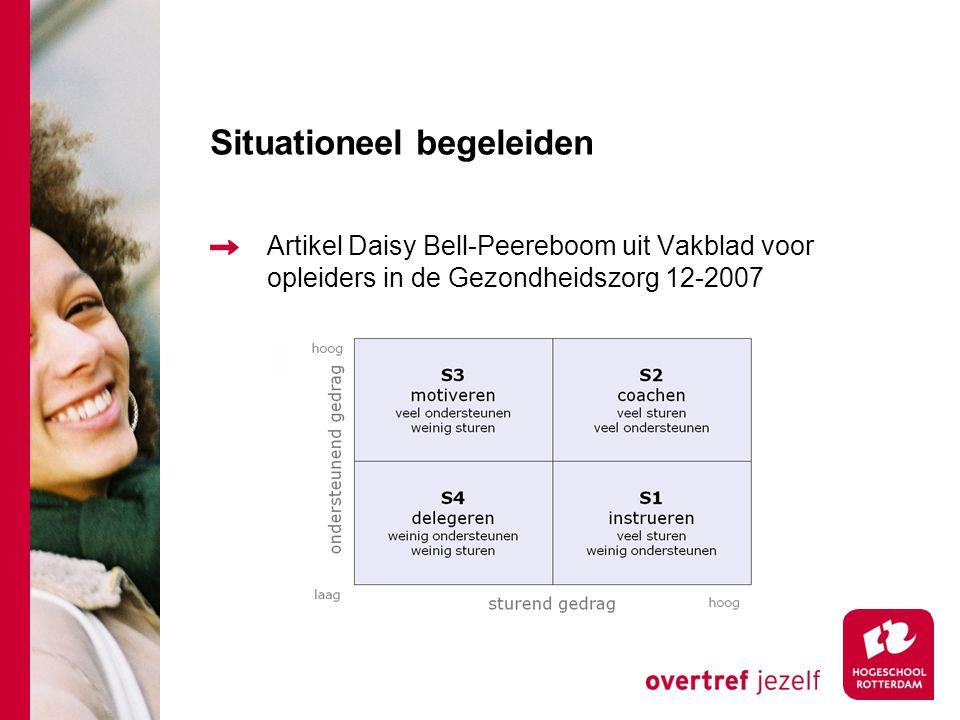 Situationeel begeleiden Artikel Daisy Bell-Peereboom uit Vakblad voor opleiders in de Gezondheidszorg 12-2007