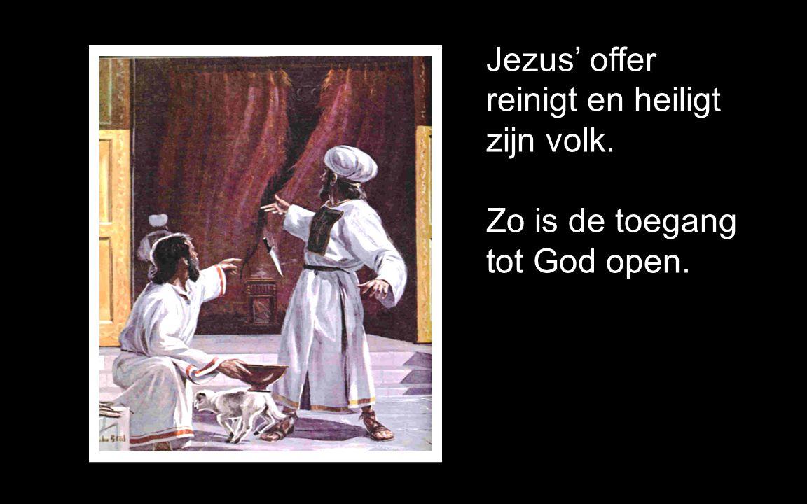 Jezus is zèlf het offerlam en de zondebok.
