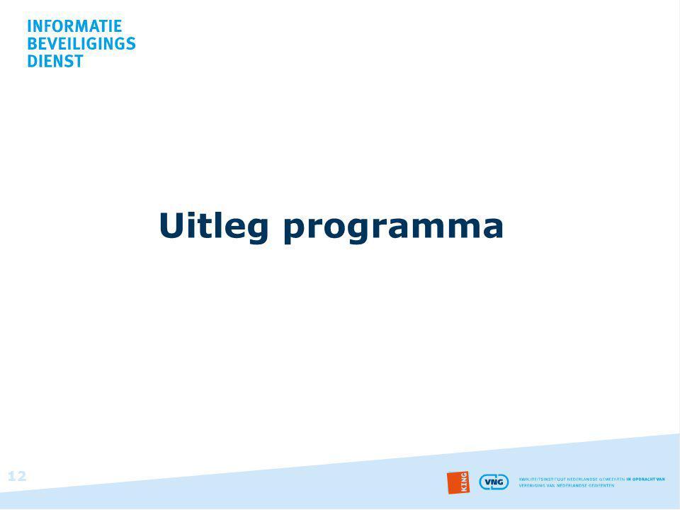 Uitleg programma 12