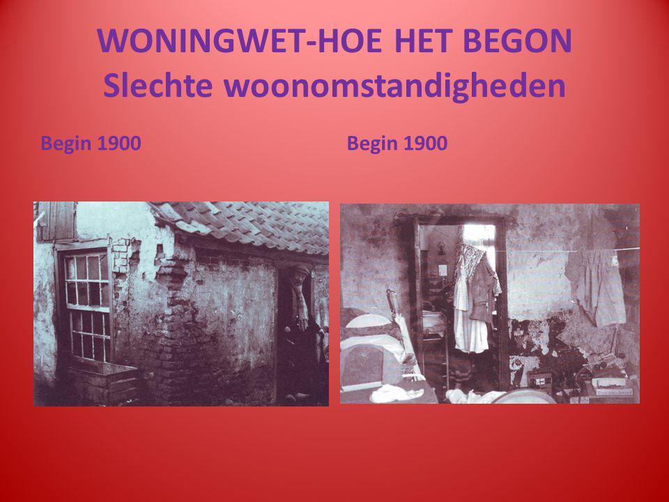 WONINGWET-HOE HET BEGON Slechte woonomstandigheden Begin 1900