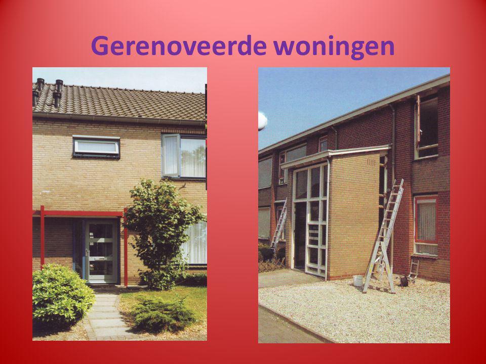 Gerenoveerde woningen