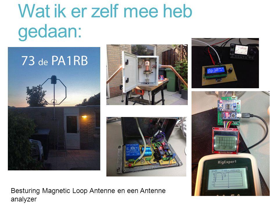 Wat ik er zelf mee heb gedaan: Besturing Magnetic Loop Antenne en een Antenne analyzer