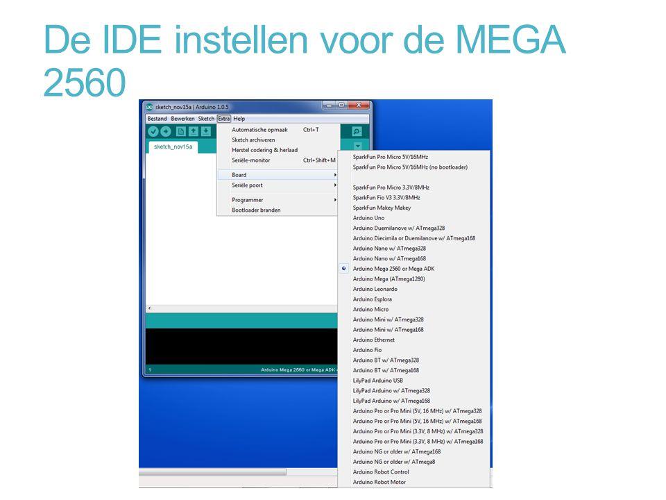 De IDE instellen voor de MEGA 2560