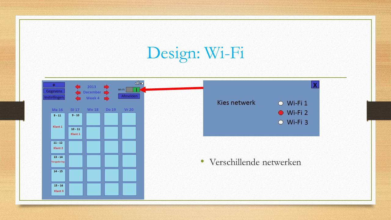Design: Wi-Fi Verschillende netwerken