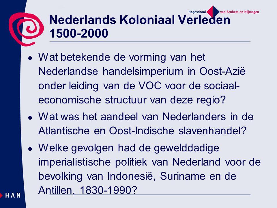 Wat betekende de vorming van het Nederlandse handelsimperium in Oost-Azië onder leiding van de VOC voor de sociaal- economische structuur van deze reg