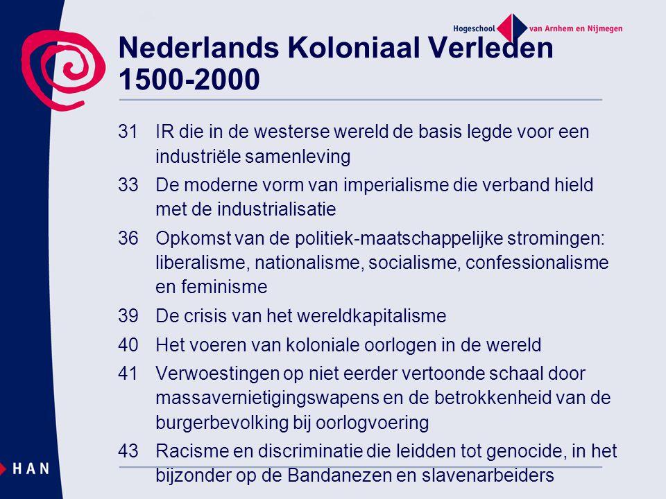 31IR die in de westerse wereld de basis legde voor een industriële samenleving 33De moderne vorm van imperialisme die verband hield met de industriali