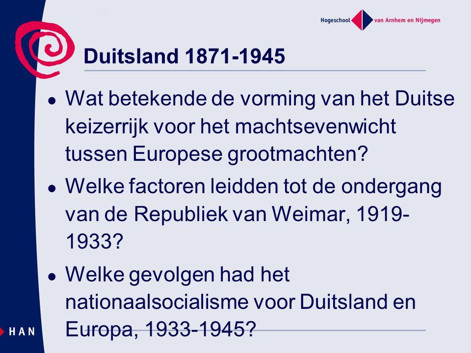 Wat betekende de vorming van het Duitse keizerrijk voor het machtsevenwicht tussen Europese grootmachten? Welke factoren leidden tot de ondergang van