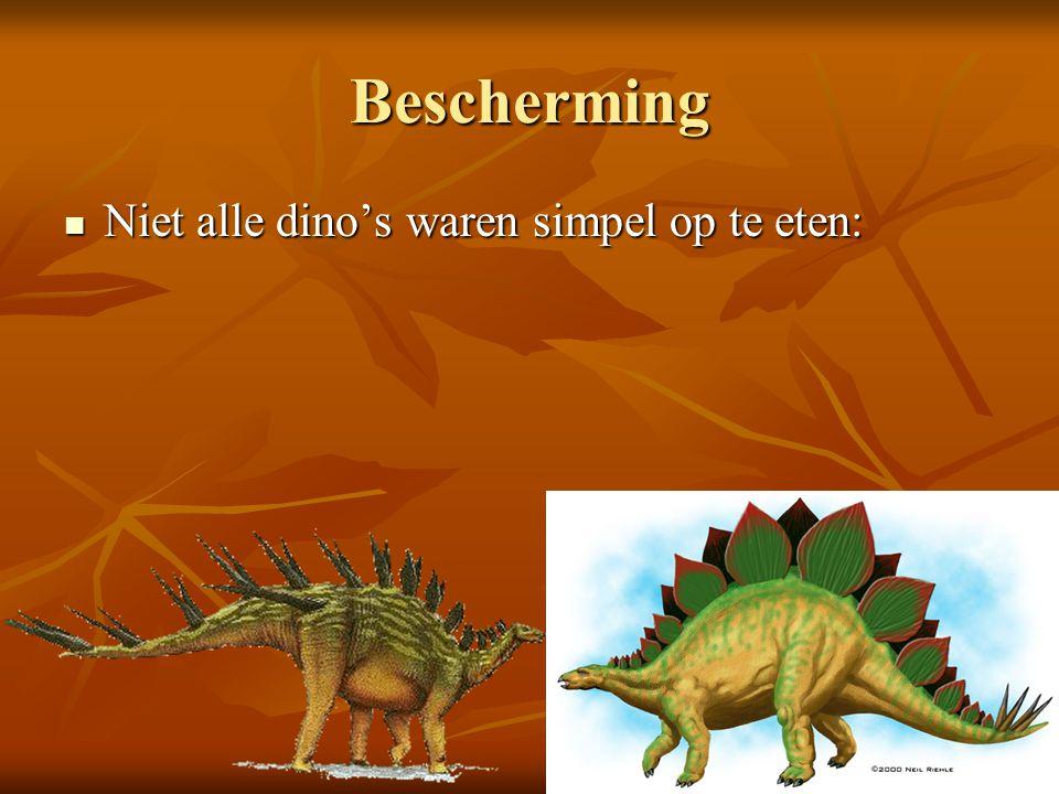 Voortplanting Dinosauriërs legden eieren met een harde schil.