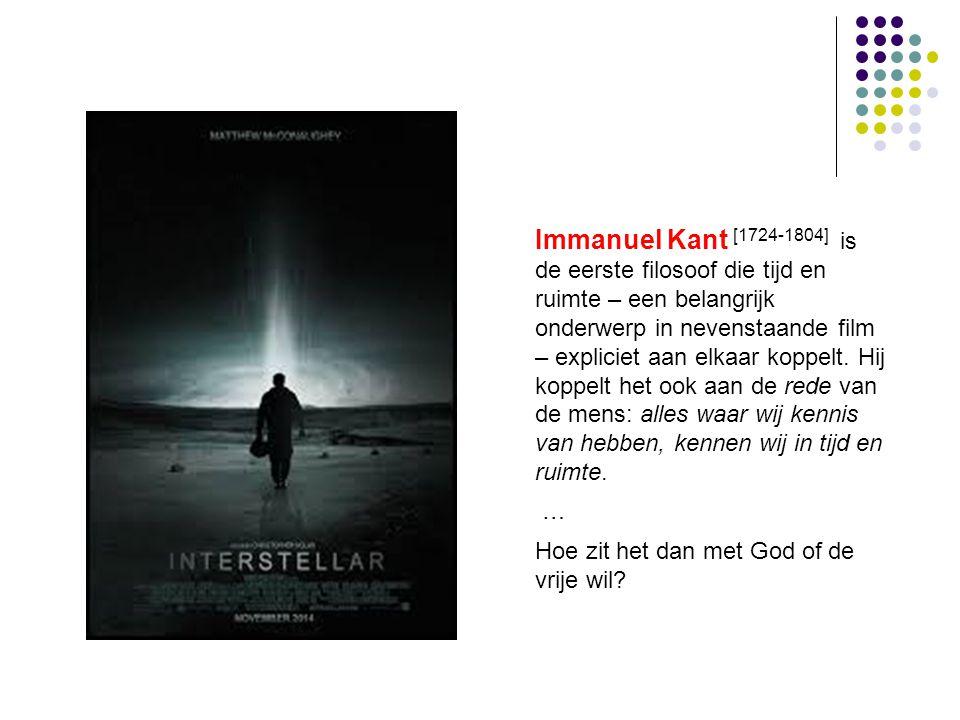Immanuel Kant [1724-1804] is de eerste filosoof die tijd en ruimte – een belangrijk onderwerp in nevenstaande film – expliciet aan elkaar koppelt. Hij