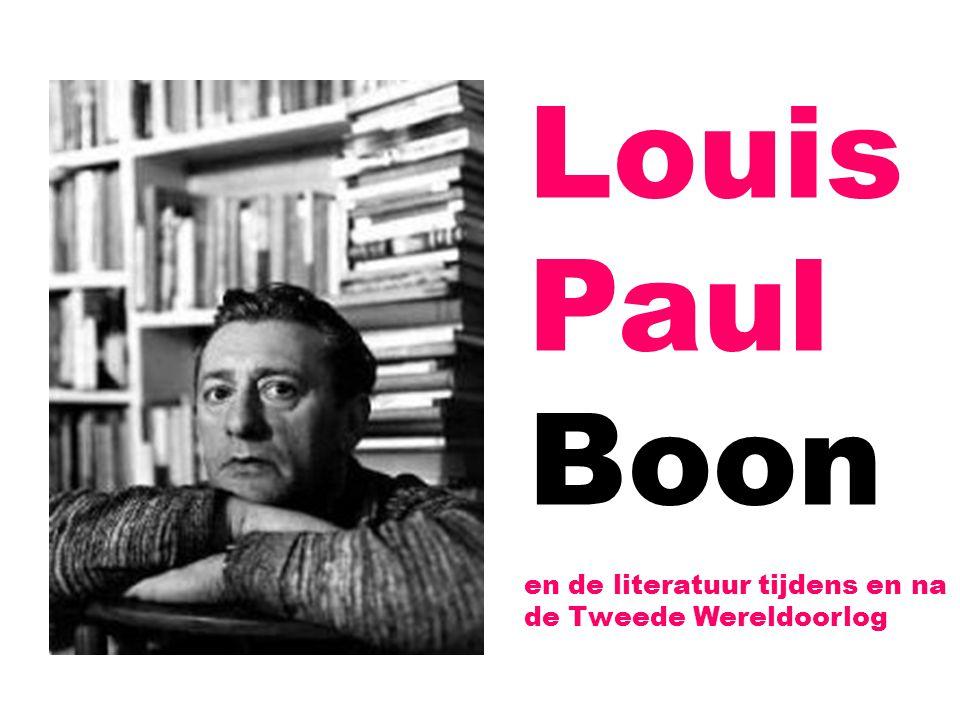 Overzicht 1.(Literaire) ontwikkelingen in de jaren veertig en vijftig 2.Het tijdschrift Tijd en Mens 3.Louis Paul Boon – receptie 4.Louis Paul Boon – werk