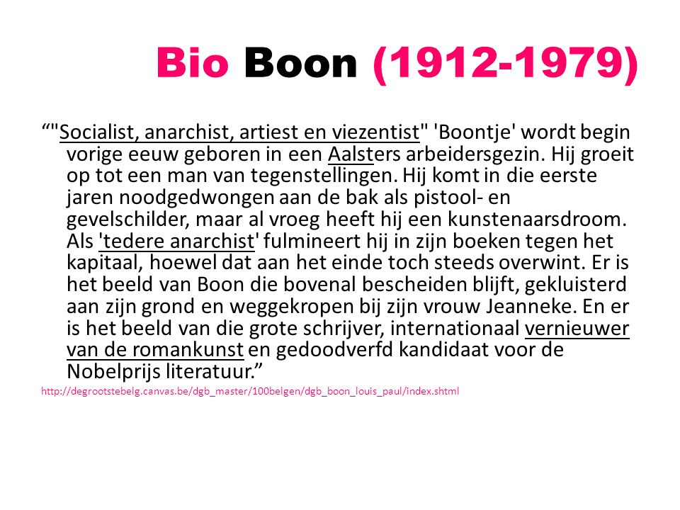 """Bio Boon (1912-1979) """""""