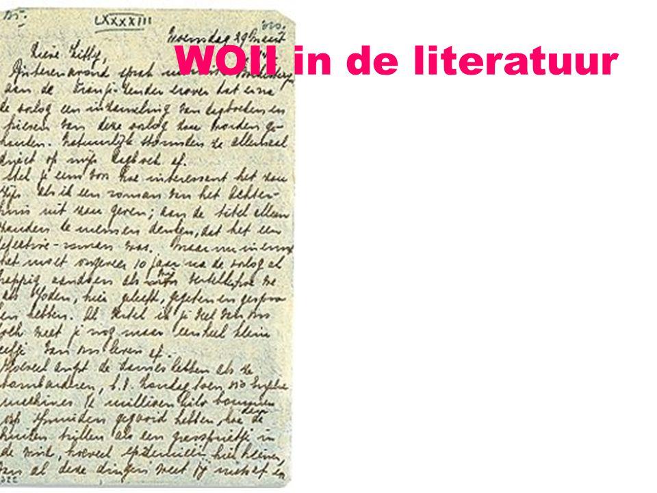 Kroniekachtige verslagen en dagboeken: Louis Paul Boon, Mijn kleine oorlog (1946) Marga Minco, Het bittere kruid (1957) Anne Frank, Het achterhuis (1946)