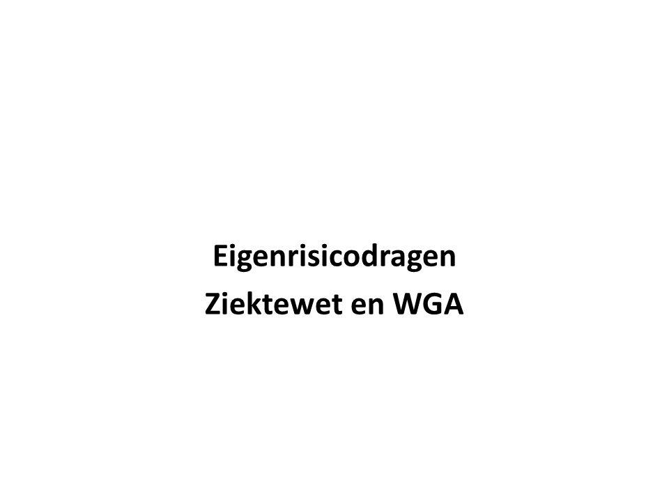 Eigenrisicodragen Ziektewet en WGA