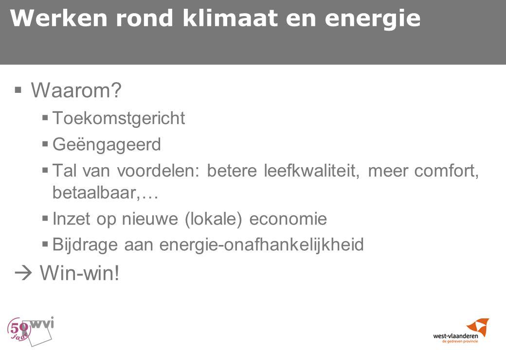 Werken rond klimaat en energie  Waarom.