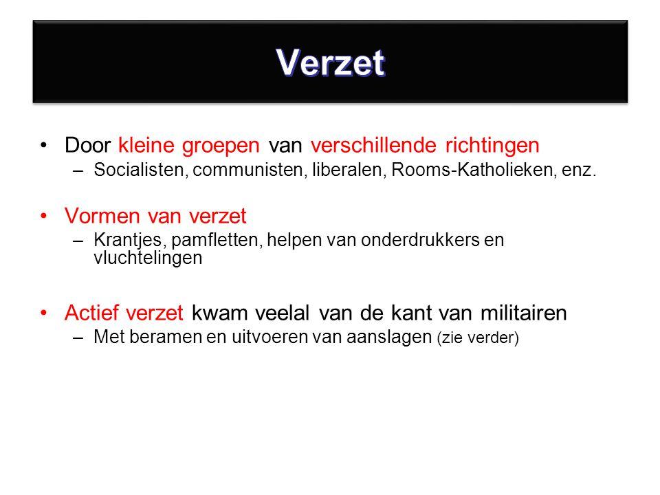 Door kleine groepen van verschillende richtingen –Socialisten, communisten, liberalen, Rooms-Katholieken, enz.