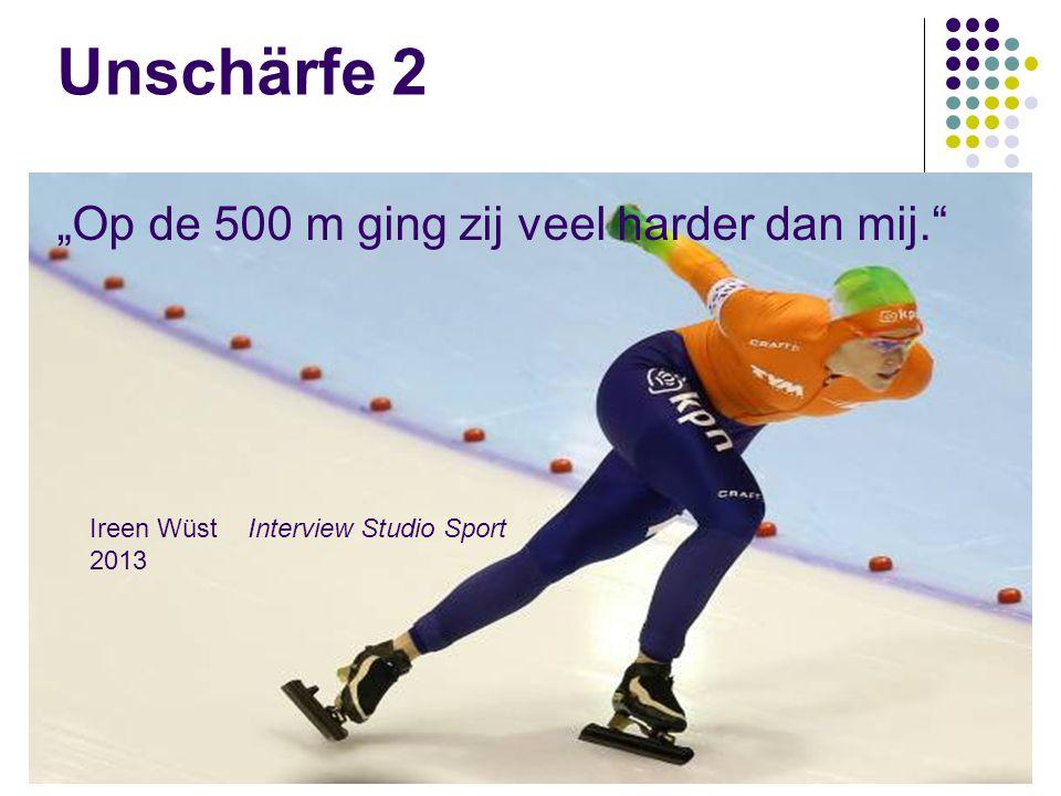 """Unschärfe 2 """"Op de 500 m ging zij veel harder dan mij."""" Ireen Wüst Interview Studio Sport 2013"""