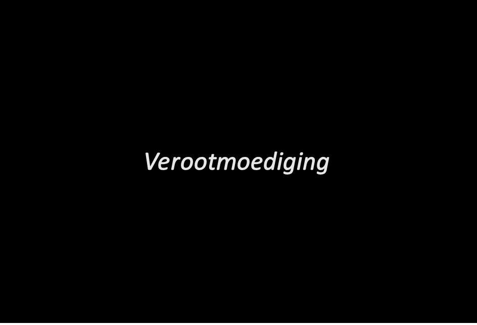 Verootmoediging