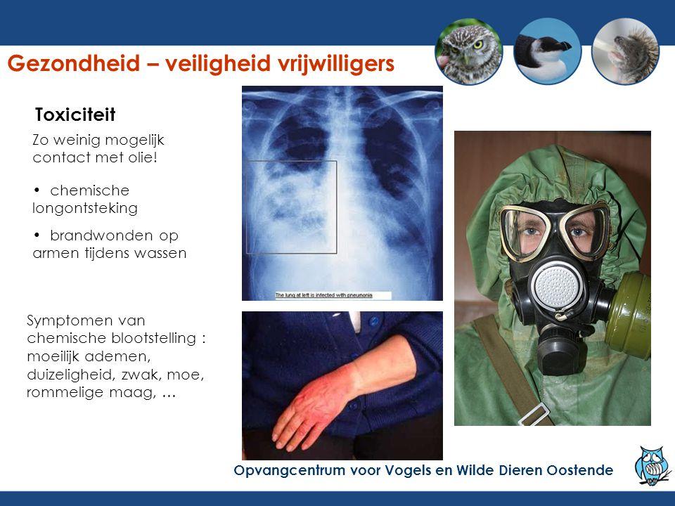 Symptomen van chemische blootstelling : moeilijk ademen, duizeligheid, zwak, moe, rommelige maag, … chemische longontsteking brandwonden op armen tijd