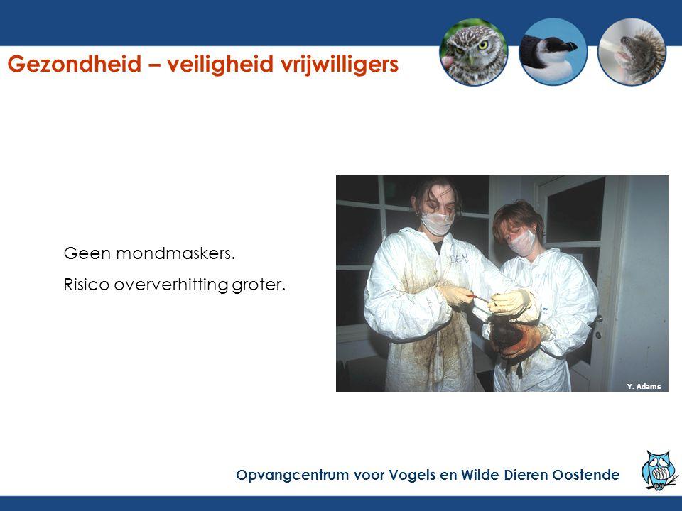 Zoek de fout… Gezondheid – veiligheid vrijwilligers Opvangcentrum voor Vogels en Wilde Dieren Oostende