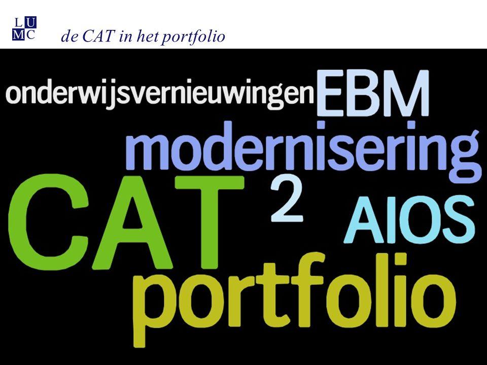 de CAT in het portfolio