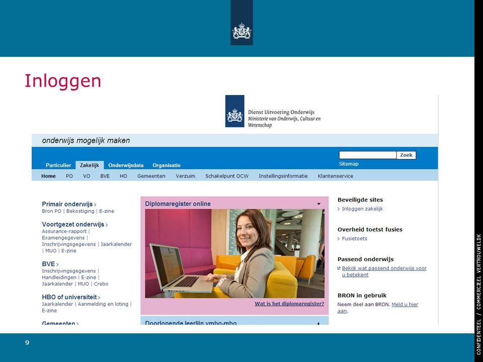 CONFIDENTEEL / COMMERCIEEL VERTROUWELIJK 30 Helpdesk Openingstijden werkdagen van 7:30 – 17:00 Telefoonnummer: 050-599 9925 E-mailadres: helpdeskfacet@duo.nl Website: www.duo.nlwww.duo.nl