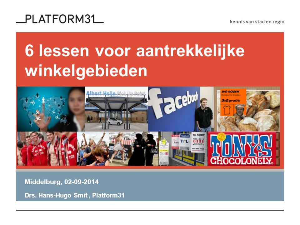 6 lessen voor aantrekkelijke winkelgebieden Middelburg, 02-09-2014 Drs. Hans-Hugo Smit, Platform31