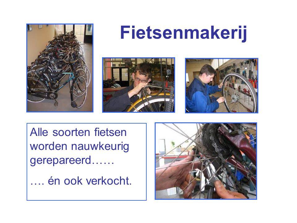 Fietsenmakerij Alle soorten fietsen worden nauwkeurig gerepareerd…… …. én ook verkocht.