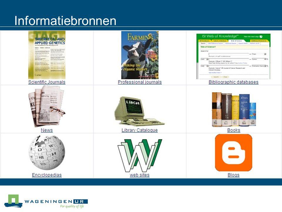 EndNote Software om referenties op te slaan in een database en om referentielijsten te maken in Word (Backboard module 7.2) Handleidingen voor gebruik van EndNote op http://library.wur.nl/endnote Cursussen werken met EndNote X4 (volgende is op 3 mei): http://library.wur.nl/desktop/events/ Regelmatig demonstraties in lunchtijd (volgende is op 17 maart ) : http://library.wur.nl/desktop/events/