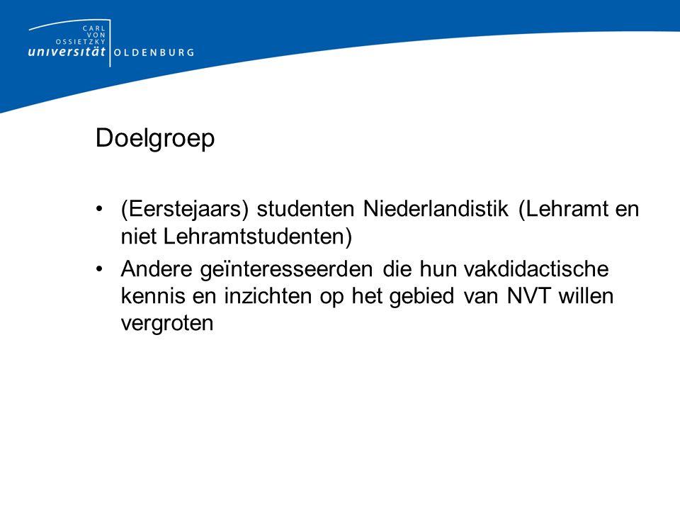 Huidige situatie Gebruik van Nederlandstalig materiaal geschreven voor: - Studenten die de opleiding voor NT2-docent volgen
