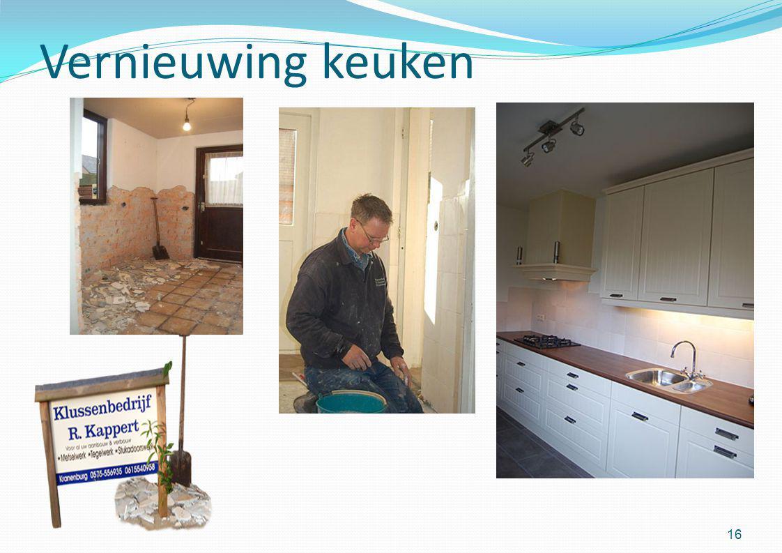 Vernieuwing keuken 16