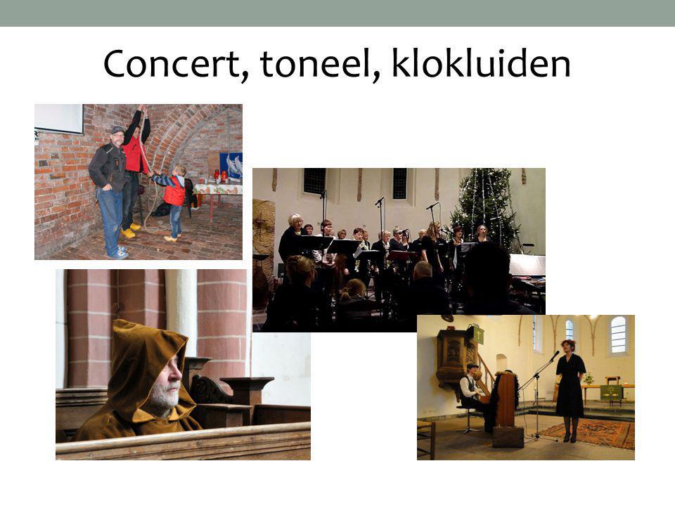 Concert, toneel, klokluiden